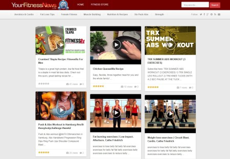my fitness news website