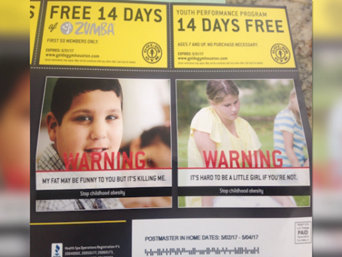 Gym apologizes for ad targeted at overweight children