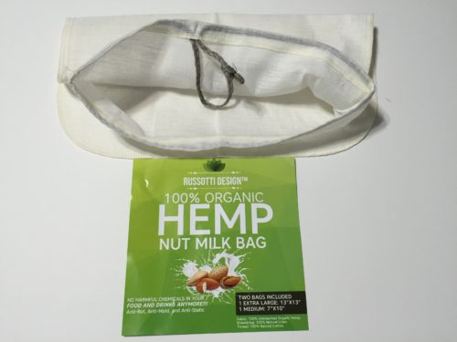 Natural Organic Hemp Nut Milk Bag…No Chemicals, Reusable, Use for Nut Milk, Cheese, Yogurt, Tea, Brew Coffee!