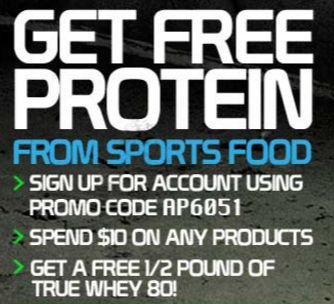 Get FREE protein for signing up with us.