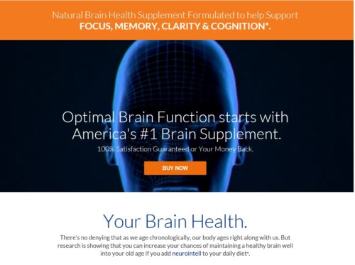 Optimal Brain Function starts with  America's #1 Brain Supplement