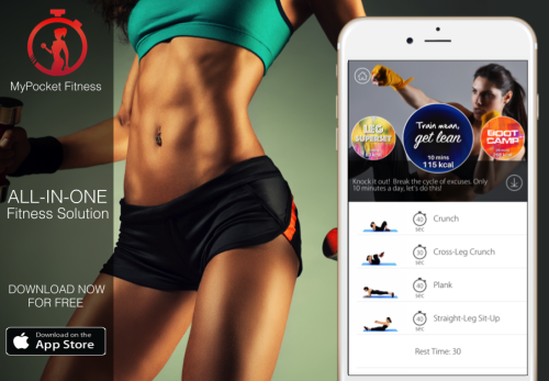 My Pocket Fitness – 7 to 30 minute home workout challenges with distance running tracker