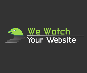 We Watch Your Website!